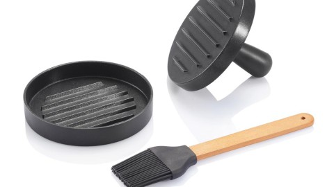 Barbecue set inclusief hamburger pers